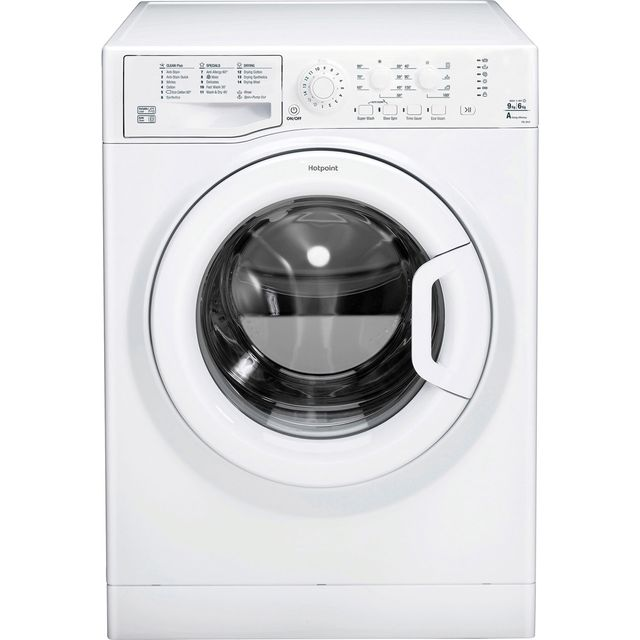 Hotpoint Ultima FDL9640P 9Kg / 6Kg Washer Dryer with 1400 rpm - White - A Rated - FDL9640P_WH - 1