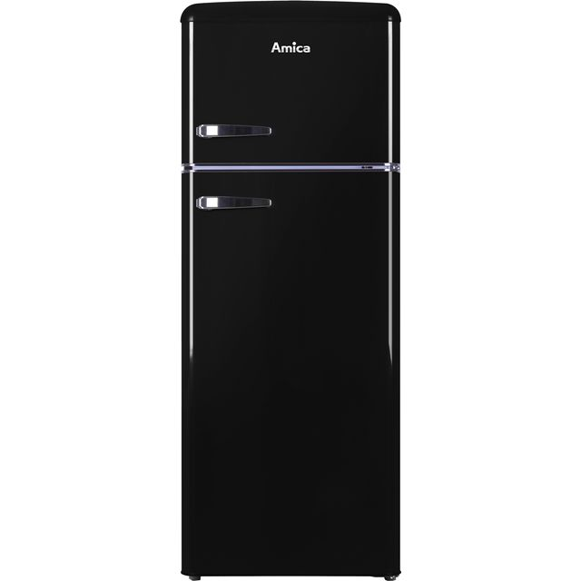 Amica FDR2213B 70/30 Fridge Freezer - Black - A+ Rated - FDR2213B_BK - 1