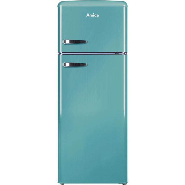 Amica FDR2213DB 70/30 Fridge Freezer - Duck Egg Blue - A+ Rated Best Price, Cheapest Prices