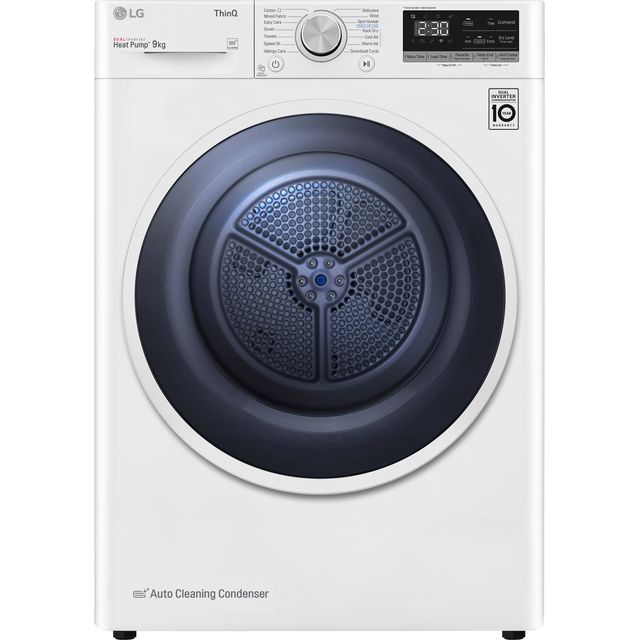 LG V3 FDV309W Heat Pump Tumble Dryer - White