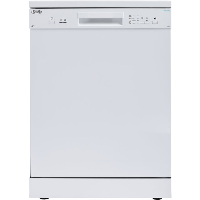 Belling Simplicity FDW120 Standard Dishwasher - White - A++ Rated Best Price, Cheapest Prices