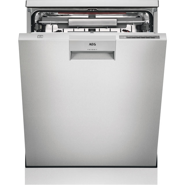 AEG ComfortLift FFE63806PM Standard Dishwasher - Stainless Steel - A+++ Rated Best Price, Cheapest Prices