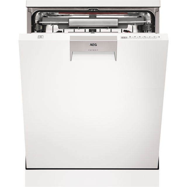 AEG ComfortLift FFE63806PW Standard Dishwasher - White - A+++ Rated Best Price, Cheapest Prices