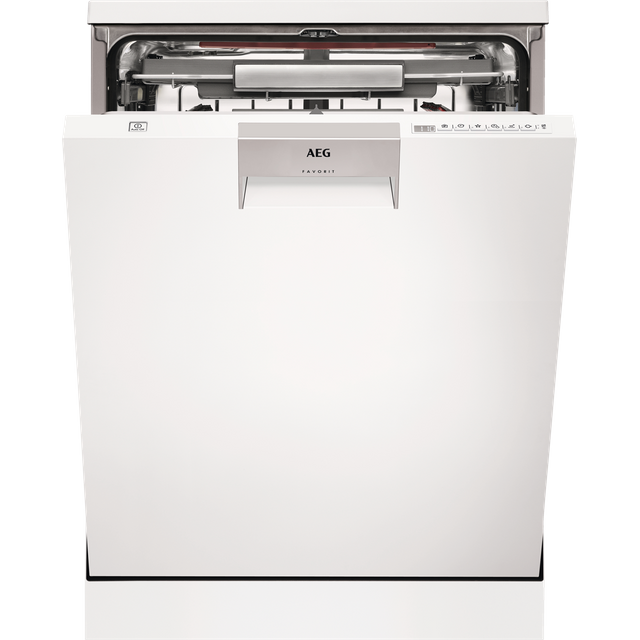 Image of AEG ComfortLift FFE63806PW Standard Dishwasher - White - A+++ Rated