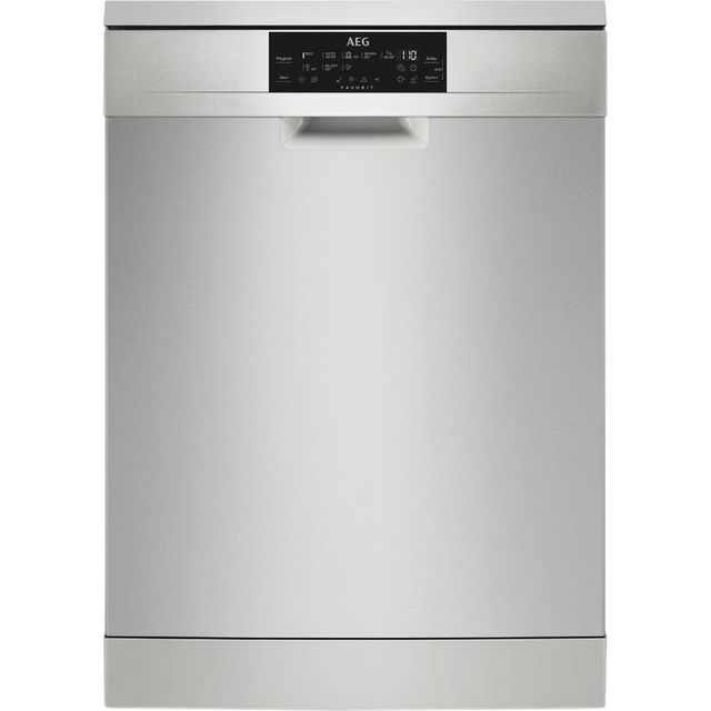 AEG FFE83700PM Standard Dishwasher - Stainless Steel Best Price, Cheapest Prices