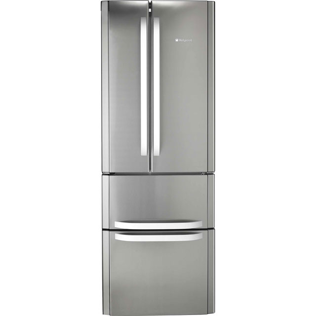 Hotpoint Day 1 FFU4D.1X 60/40 Frost Free Fridge Freezer - Stainless Steel - A+ Rated - FFU4D.1X_SS - 1