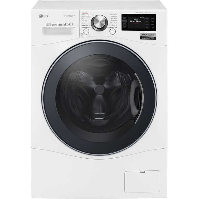 LG Centum™ FH6F9BDS2 Wifi Connected 12Kg Washing Machine with 1600 rpm - White - A+++ Rated - FH6F9BDS2_WH - 1