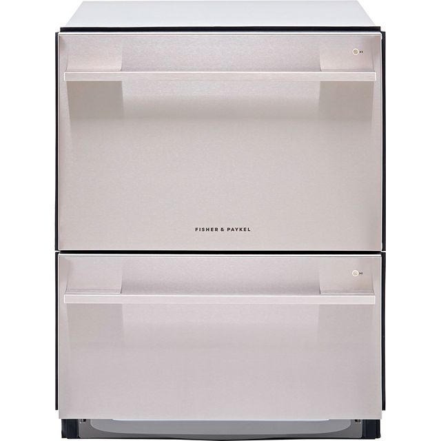 Fisher & Paykel Double DishDrawer™ DD60DDFHX9 Semi Integrated Standard Dishwasher - Stainless Steel Control Panel with Fixed Door Fixing Kit - E Rated