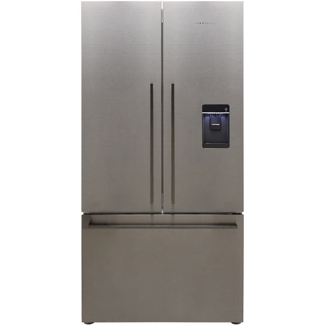 Fisher & Paykel RF540ADUB5 American Fridge Freezer - Black Steel - A+ Rated - RF540ADUB5_BSS - 1