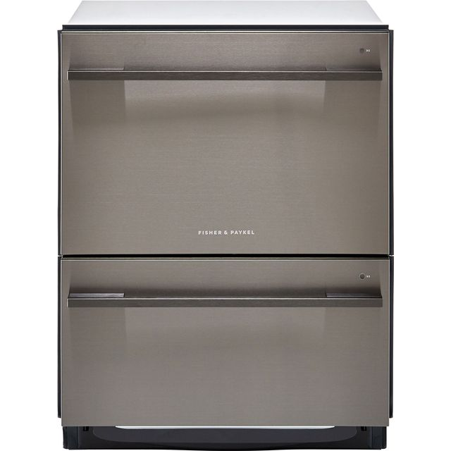 Fisher & Paykel Double DishDrawer™ DD60DDFHB9 Semi Integrated Standard Dishwasher - Black Steel Control Panel with Fixed Door Fixing Kit - A++ Rated - DD60DDFHB9_BSS - 1