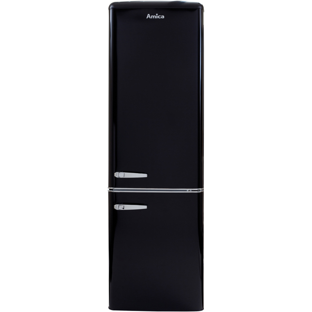 Amica FKR29653B 60/40 Fridge Freezer - Black - A+ Rated - FKR29653B_BK - 1
