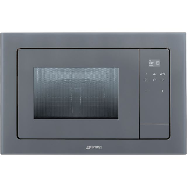 Graded Smeg FMI120S1 60cm Silver Glass Microwave Oven with Grill (JUB-27230)