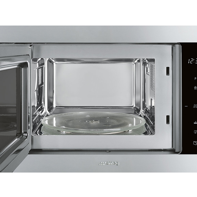 Smeg Classic FMI325X Built In Microwave With Grill - Stainless Steel - FMI325X_SS - 2