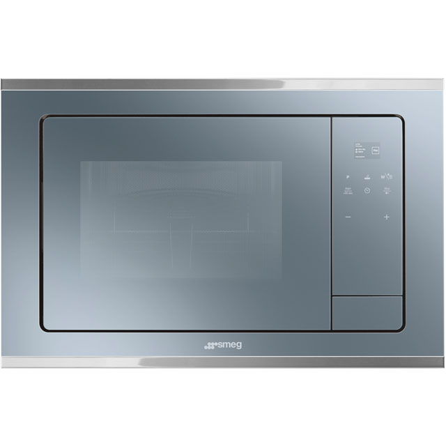 Smeg Cucina FMI420S Built In Microwave with Grill - Silver Glass - FMI420S_SG - 1