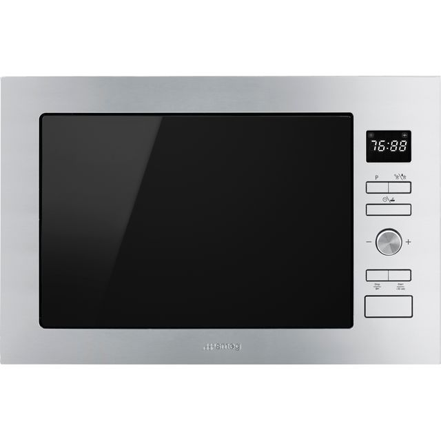 Smeg Cucina FMI425X Built In Microwave with Grill - Stainless Steel - FMI425X_SS - 1