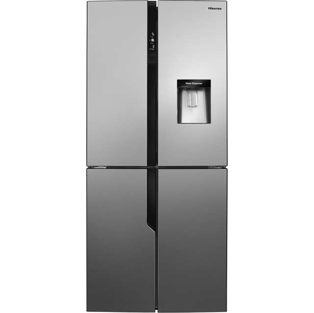Hisense FMN431W20C American Fridge Freezer - Stainless Steel Effect - FMN431W20C_SSL - 1