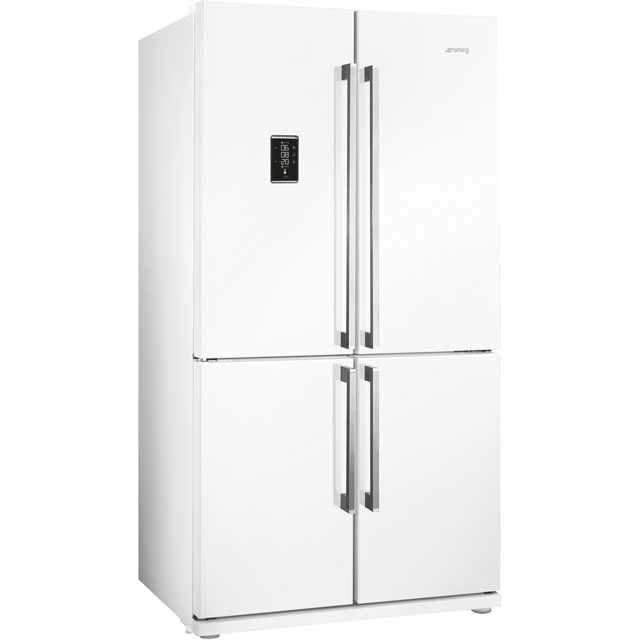 Smeg FQ60BPE American Fridge Freezer - White - A+ Rated - FQ60BPE_WH - 1