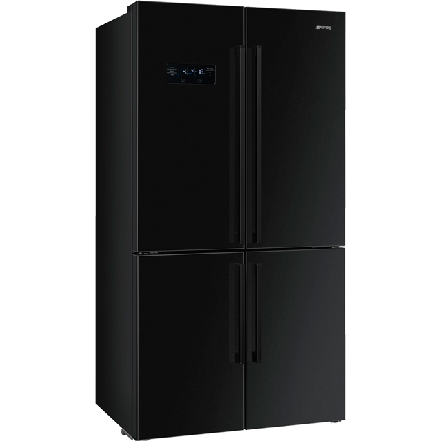 Smeg FQ60N2PE1 American Fridge Freezer - Black - A++ Rated - FQ60N2PE1_BK - 1