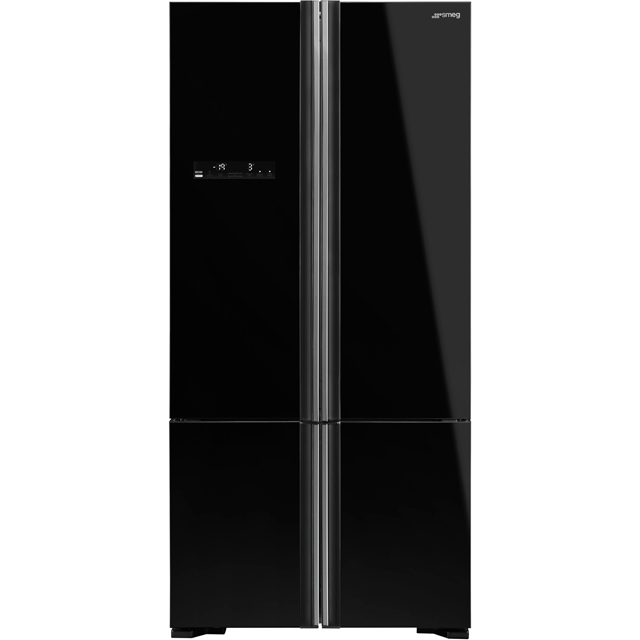 Smeg FQ70GBE American Fridge Freezer - Black - A++ Rated - FQ70GBE_BK - 1