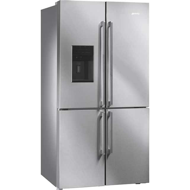 Smeg FQ75XPED American Fridge Freezer - Stainless Steel - A+ Rated Best Price, Cheapest Prices
