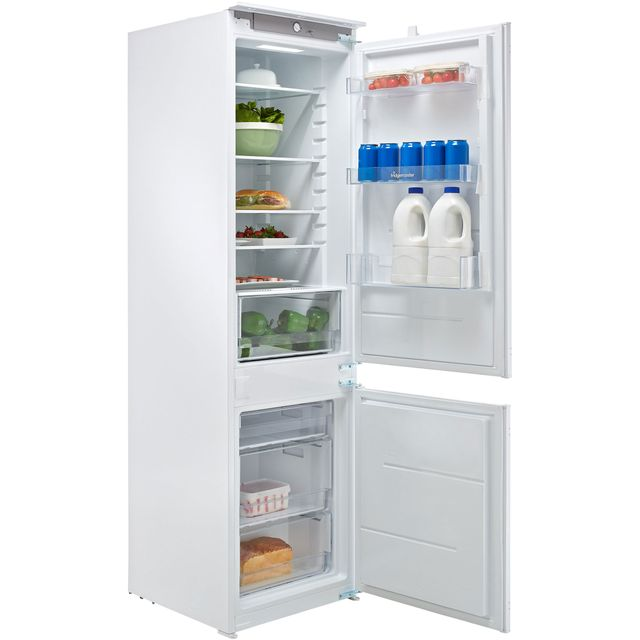 Fridgemaster MBC54260 Integrated 70/30 Fridge Freezer with Sliding Door Fixing Kit - White - A+ Rated