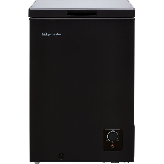 Fridgemaster MCF96B Chest Freezer - Black - F Rated
