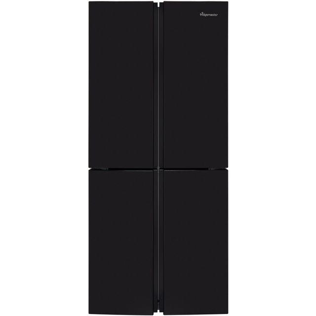 Fridgemaster MQ79394FFB American Fridge Freezer - Black - A+ Rated Best Price, Cheapest Prices