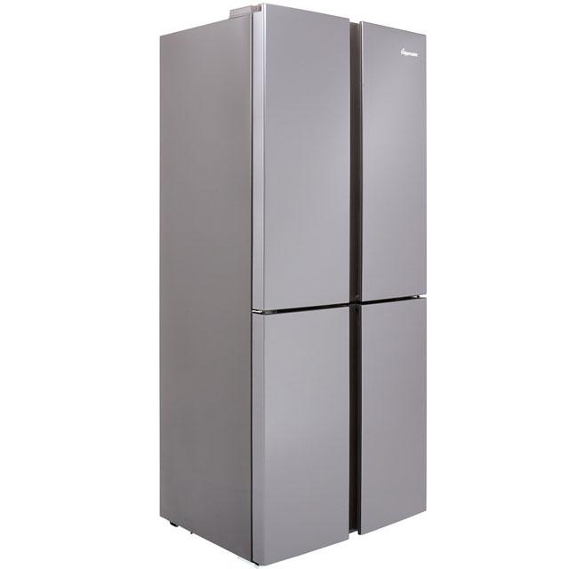 Fridgemaster MQ79394FFS American Fridge Freezer - Silver - A+ Rated Best Price, Cheapest Prices