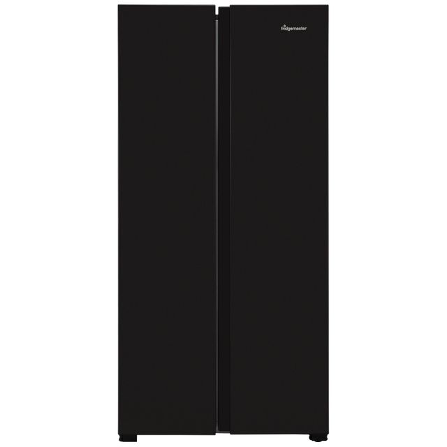 Fridgemaster MS83430FFB American Fridge Freezer - Black - A+ Rated - MS83430FFB_BK - 1