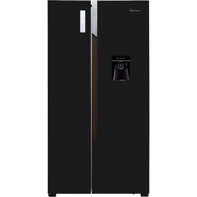 Fridgemaster MS91515BFF American Fridge Freezer - Black - A+ Rated Best Price, Cheapest Prices