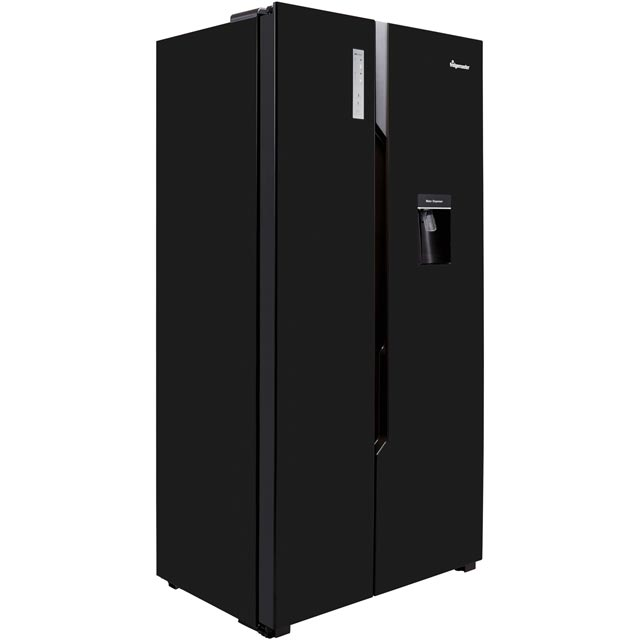 Fridgemaster MS91515BFF American Fridge Freezer - Black - MS91515BFF_BK - 2