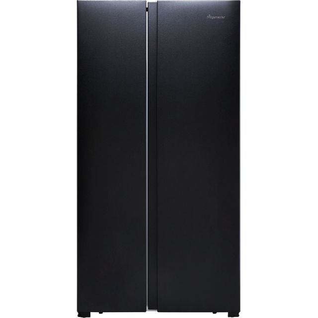 Fridgemaster MS91518FBS American Fridge Freezer - Black / Stainless Steel - MS91518FBS_BSS - 1