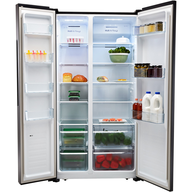 Fridgemaster MS91518FBS American Fridge Freezer - Black / Stainless Steel - MS91518FBS_BSS - 3