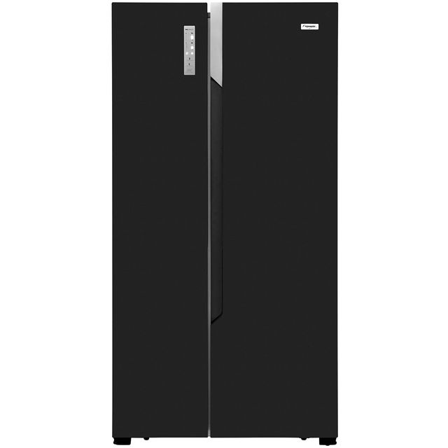 Fridgemaster MS91518FFB American Fridge Freezer - Black
