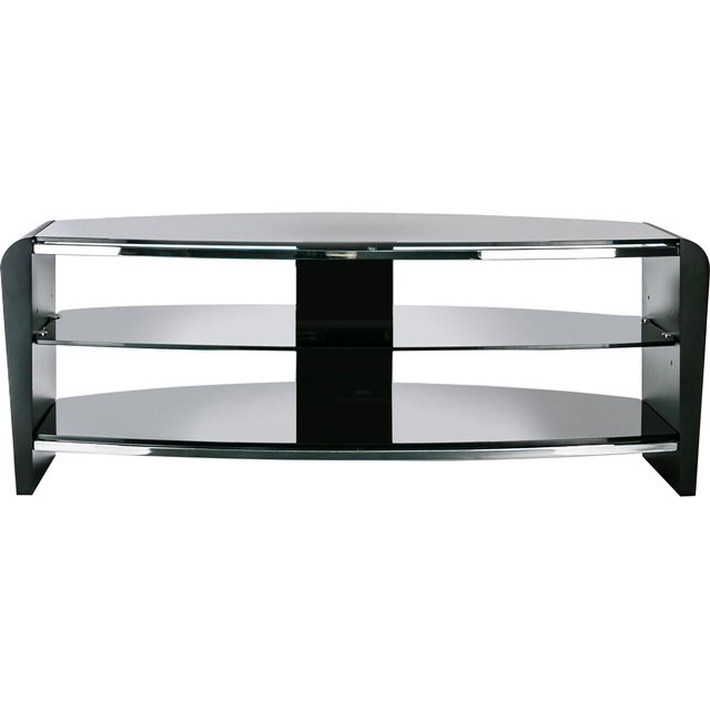 Alphason Francium FRN1100/3BLK/BK 3 Shelf TV Stand - Black - FRN1100/3BLK/BK - 1