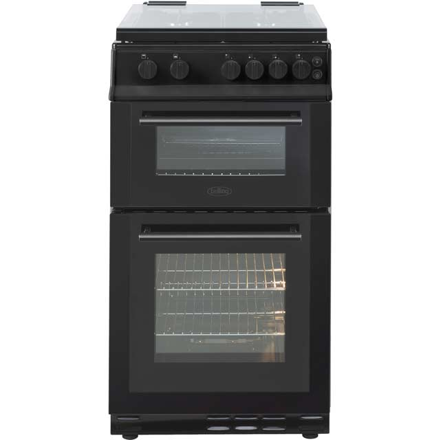 Belling FS50GDOL Gas Cooker with Variable Gas Grill - Black - B/A Rated