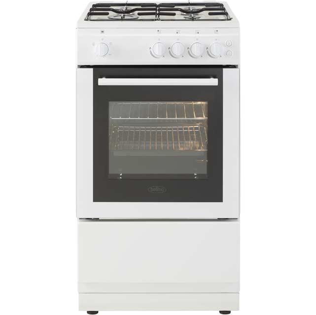 Belling FS50GSO Gas Cooker - White