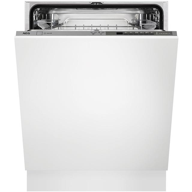 AEG Fully Integrated Standard Dishwasher - Silver with Sliding Door Fixing Kit - A+ Rated