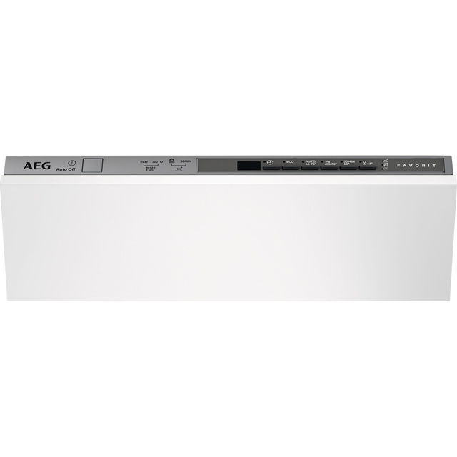 AEG Fully Integrated Slimline Dishwasher - Silver Control Panel with Sliding Door Fixing Kit - A+ Rated