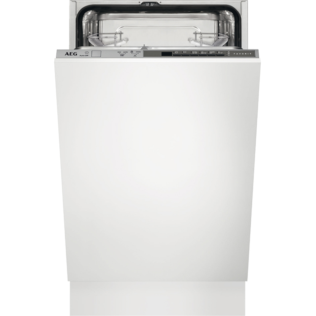 AEG FSB51400Z Fully Integrated Slimline Dishwasher - Silver Control Panel with Sliding Door Fixing Kit - A+ Rated - FSB51400Z_SI - 1