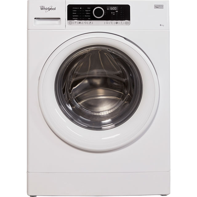 Whirlpool 8Kg Washing Machine - White - A+++ Rated