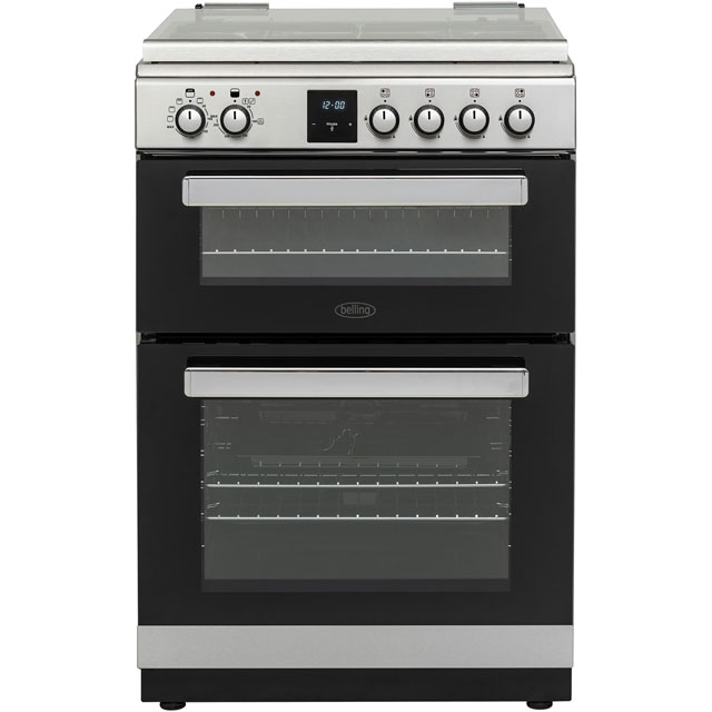 Belling FSDF608Dc 60cm Dual Fuel Cooker - Stainless Steel - A+/A Rated