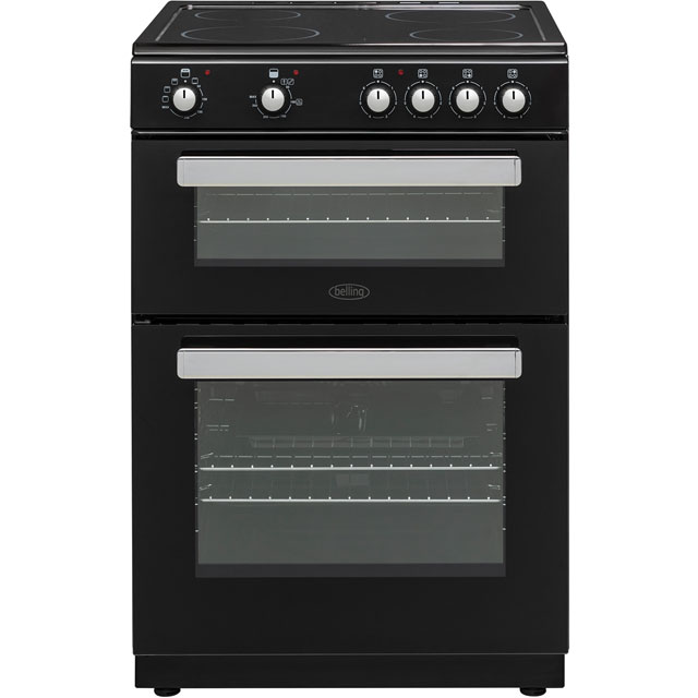 Belling FSE608D 60cm Electric Cooker with Ceramic Hob - Black - A/A Rated - FSE608D_BK - 1