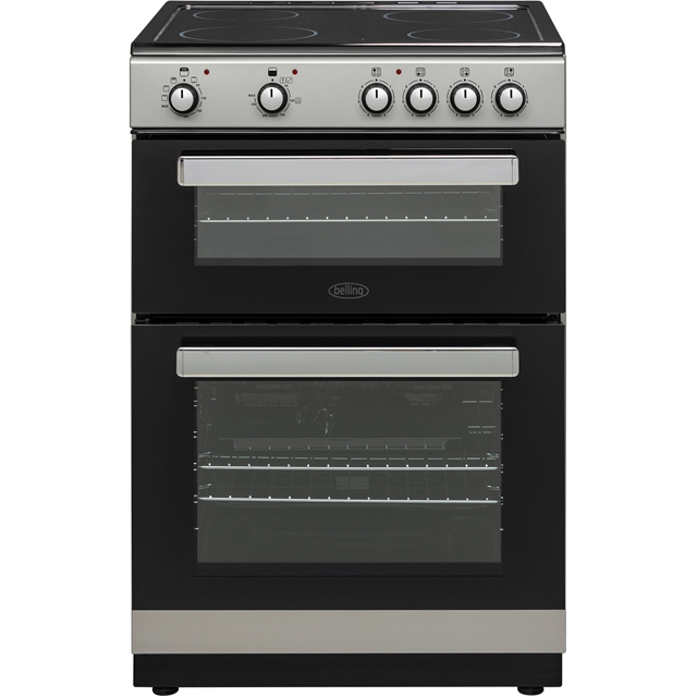 Belling FSE608D Electric Cooker with Ceramic Hob - Silver - A/A Rated - FSE608D_SI - 1