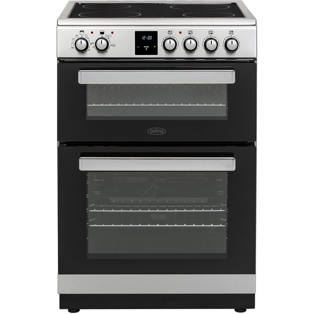 Belling FSE608DPc Electric Cooker with Ceramic Hob - Stainless Steel - A/A Rated
