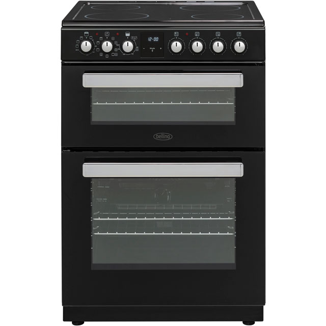 Belling Electric Cooker with Ceramic Hob - Black - A/A Rated