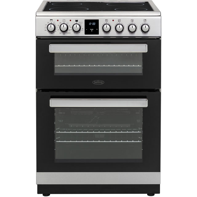 Belling 60cm Electric Cooker with Ceramic Hob - Stainless Steel - A/A Rated