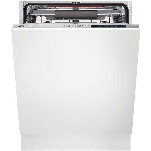 AEG FSE83710P Fully Integrated Standard Dishwasher - Silver Control Panel with Sliding Door Fixing Kit - A+++ Rated - FSE83710P_SI - 1