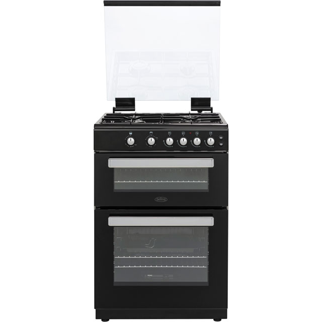 Belling FSG608Dc 60cm Gas Cooker with Full Width Electric Grill - Black - A+/A Rated