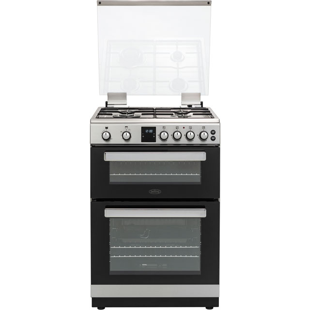 Belling FSG608TCW Gas Cooker with Variable Electric Grill - Stainless Steel - A+ Rated